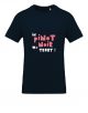 "T-shirt ""in pinot noir we trust"" navy blue, men's"